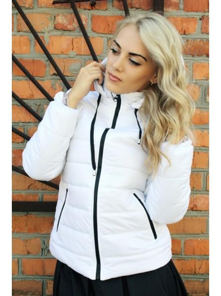 7b082516be9 Видеообзор и фото Куртка женская демисезонная FS Синди M (44 UA) Белая. Купить  Куртка женская демисезонная FS Синди M (44 UA) Белая. Цена