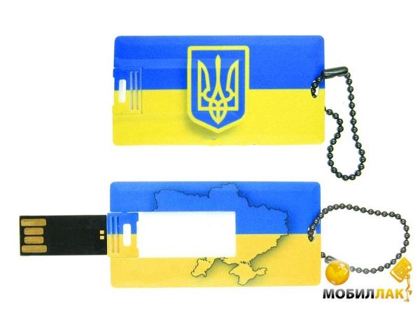 Uniq Украина Plastic Card 8GB USB 2.0 (08C35143U2) MobilLuck.com.ua 113.000