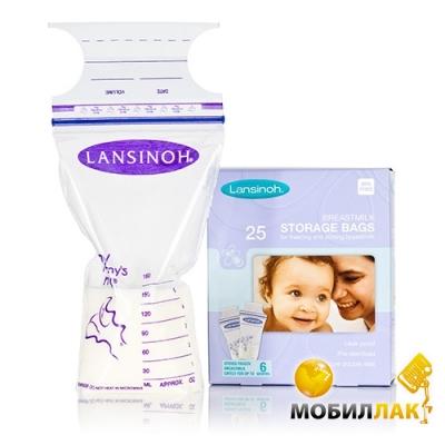 Lansinoh Пакеты для хранения и замораживания грудного молока 25 шт. (44204) Lansinoh