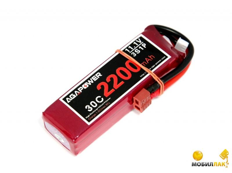 Aga Power Аккумулятор AGA POWER Li-Po 2200mAh 11.1V 3S 30C Softcase 26x34x105мм T-Plug (AGA30-2200-3S-S) MobilLuck.com.ua 392.000