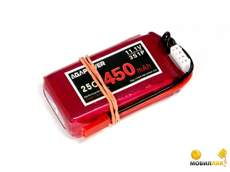 Aga Power Аккумулятор AGA POWER Li-Po 450mAh 11.1V 3S 25C Softcase 13x30x52мм JST (AGA25-450-3S-S) MobilLuck.com.ua 205.000