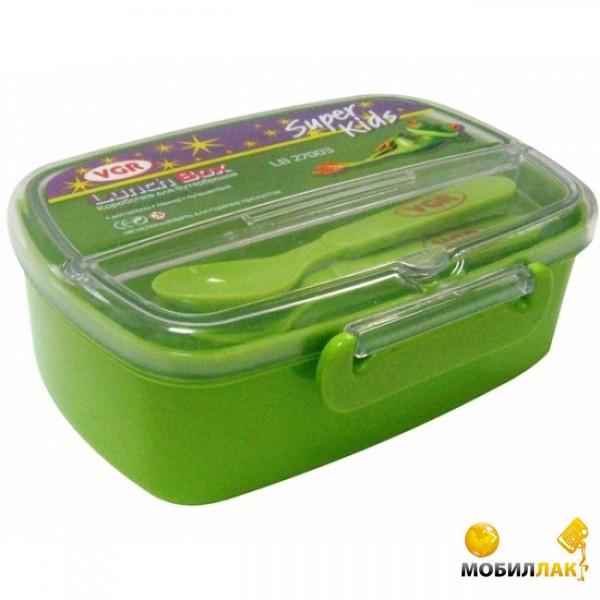 VGR Коробка для бутербродов (с вилкой и ложкой) (Я00404_LB27003) MobilLuck.com.ua 40.000
