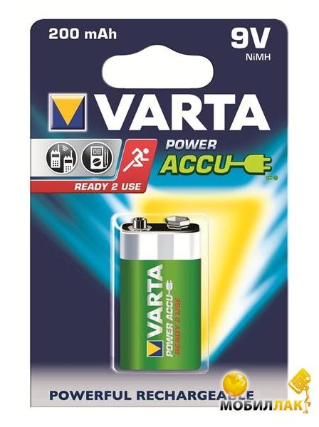 Аккумулятор Varta Power Accu 6F22 9V 200mAh BLI 1 Ni-MH