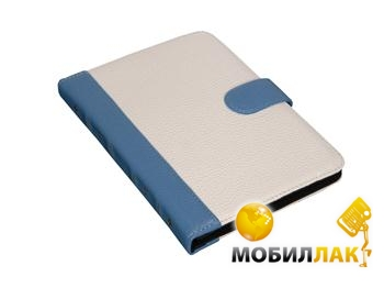 SB1995 Bookcase L Кожа White-Blue MobilLuck.com.ua 164.000