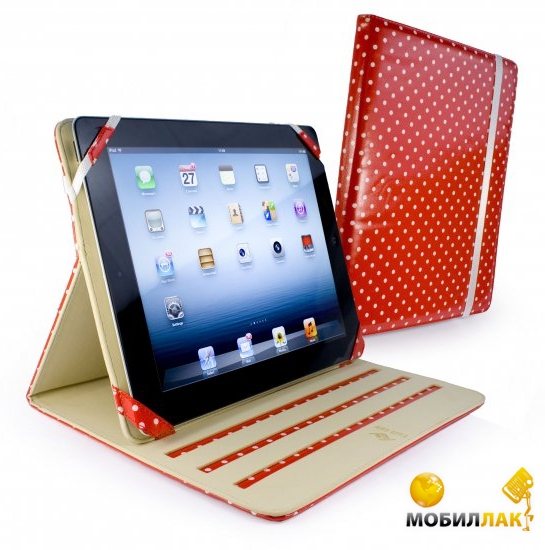 Чехол для Apple iPad2/3 Tuff-Luv Slim-Stand (B10 35) Red Polka-Hot. Купить Чехол для Apple iPad2/3 Tuff-Luv Slim-Stand (B10 35)