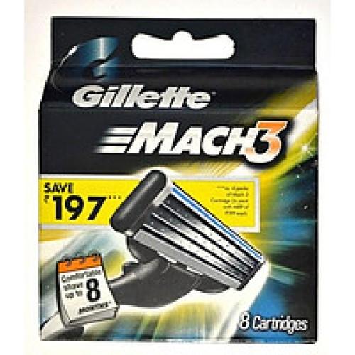 Картриджи Gillette Mach3 8 штук