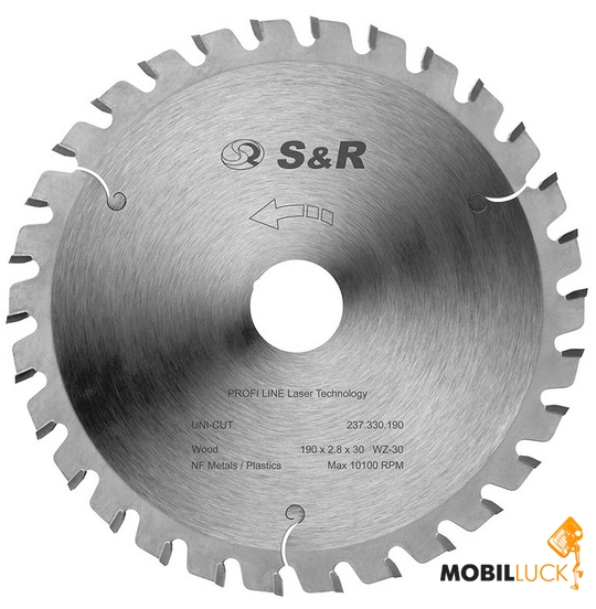 S&R 210х2,8х30 АТВ 34 зуба (237334210) MobilLuck.com.ua 799.000
