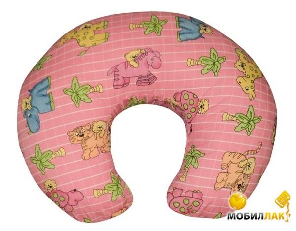 Малышастик Подушка для кормления Розовая со зверятами (pod183) MobilLuck.com.ua 208.000