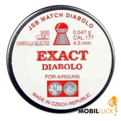 JSB Diablo Exact 4,51 mm 0,547 гр. (500 шт/уп) MobilLuck.com.ua 161.000