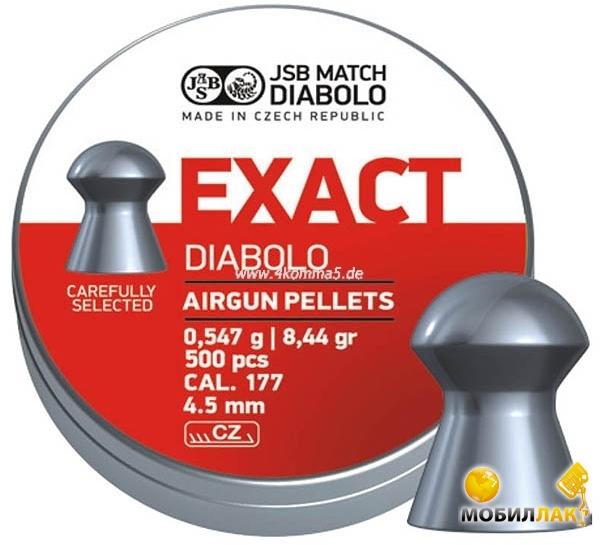 JSB Diablo Exact 4,53 мм 0,547 гр. (500 шт/уп) MobilLuck.com.ua 161.000