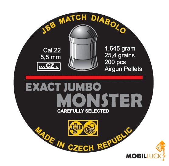 JSB Exact Jumbo Monster 5,52 мм 1.645 гр. (200 шт/уп) MobilLuck.com.ua 119.000