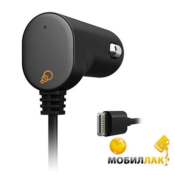 Cygnett Car Charger 2.1A Lightning Fixed cable Black сертификат MFI Apple MobilLuck.com.ua 265.000