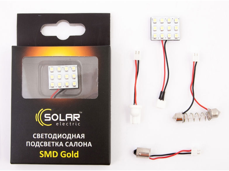 solar Solar 12V 27x27mm 12SMD 5050 white (DL512)
