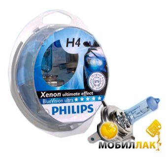 Philips Blue Vision Ultra H4+W5W MobilLuck.com.ua 283.000