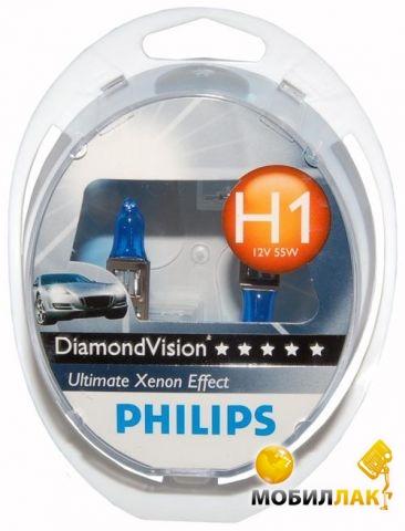 Philips Diamond Vision H1 12V 55W P14.5S MobilLuck.com.ua 322.000