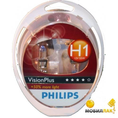 Philips Vision Plus H1 12V 55W P14.5S MobilLuck.com.ua 128.000