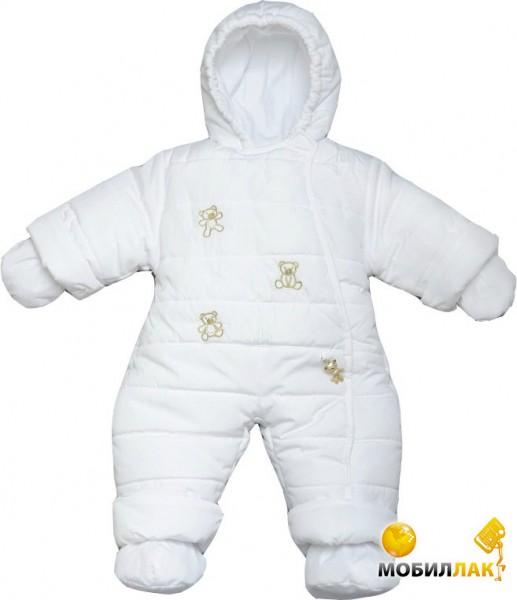 2b07954251aa Детский зимний комбинезон Модный карапуз белый р.74. Купить Детский ...