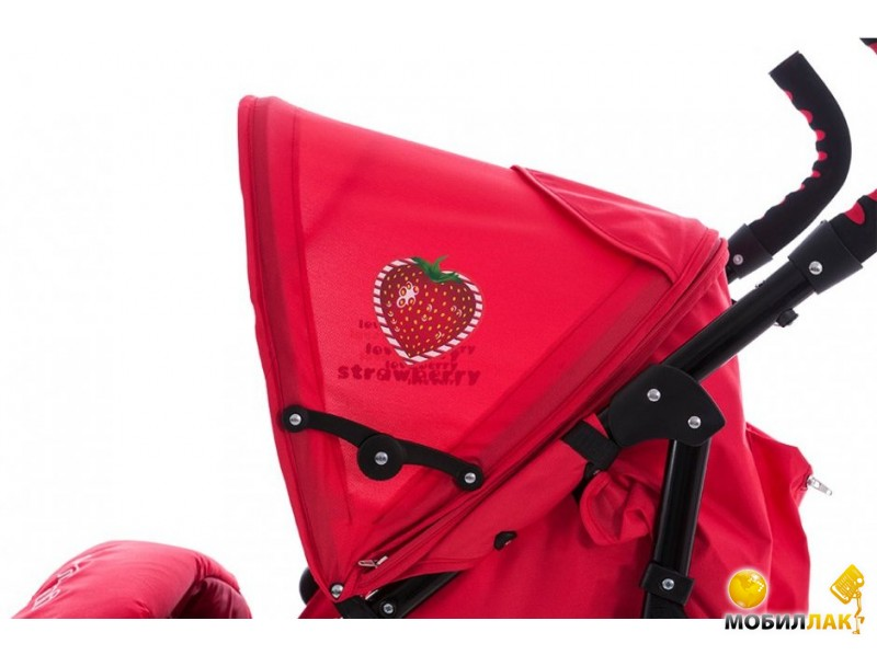 Bertoni Bambini Superb Red Strawberry + Footcover bigger + Pillow (4609009554086) MobilLuck.com.ua 1223.000
