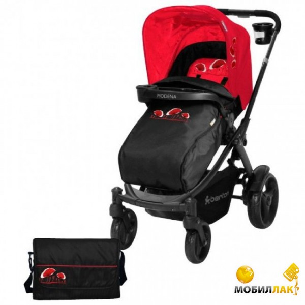 Bertoni Modena Black&Red Poppies + Footcover + Bag (10020651233) MobilLuck.com.ua 3726.000