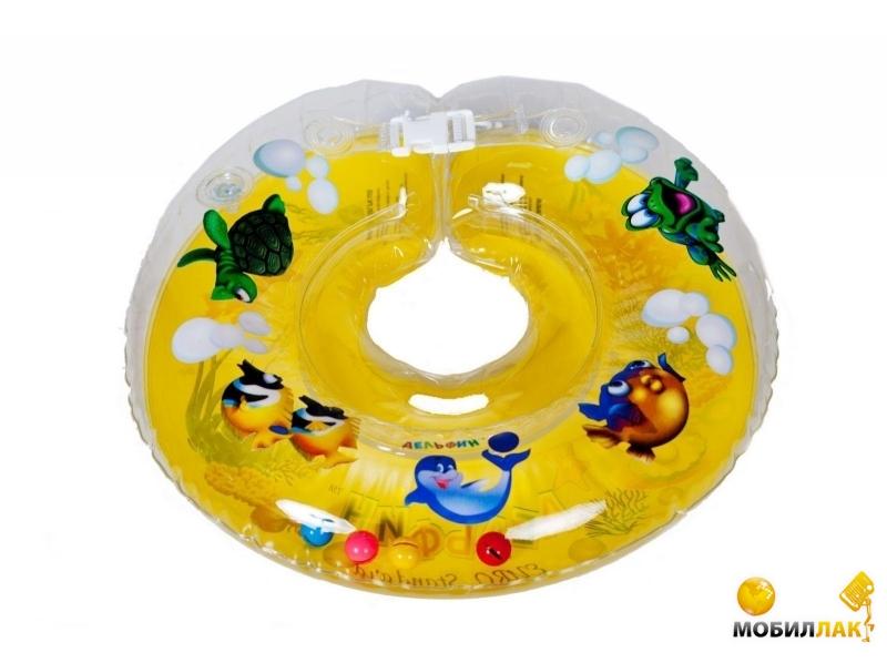 Delfin Круг для купания младенцев на шею с погремушками и ручками EUROSTANDART Дельфин Желтый DES230414-yellow MobilLuck.com.ua 103.000