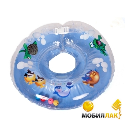 Delfin Круг для купания младенцев на шею с погремушками и ручками EUROSTANDART Дельфин Голубой DES230414-blue MobilLuck.com.ua 109.000