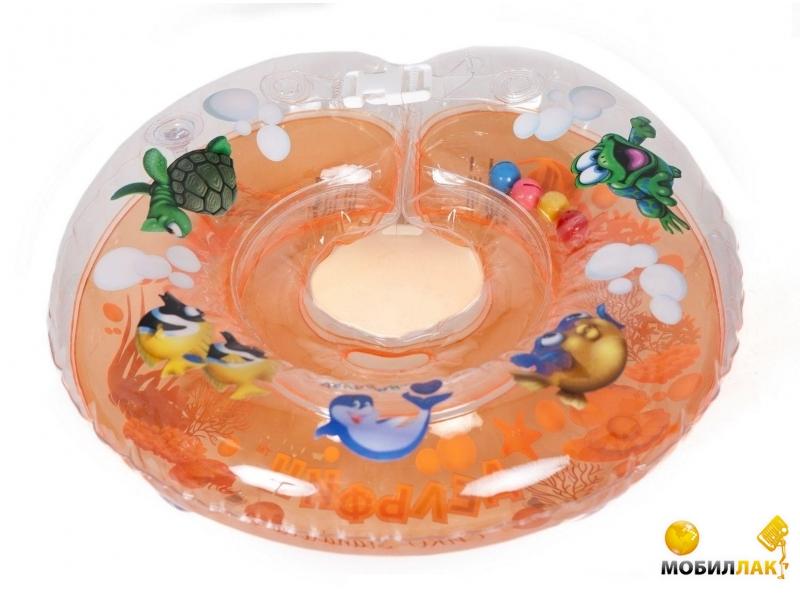 Delfin Круг для купания младенцев на шею с погремушками и ручками EUROSTANDART Дельфин Оранжевый DES230414-orange MobilLuck.com.ua 103.000