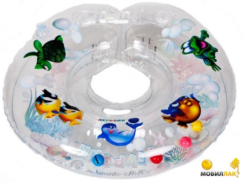 Delfin Круг для купания младенцев на шею с погремушками и ручками EUROSTANDART Дельфин Прозрачный DES230414-white MobilLuck.com.ua 109.000