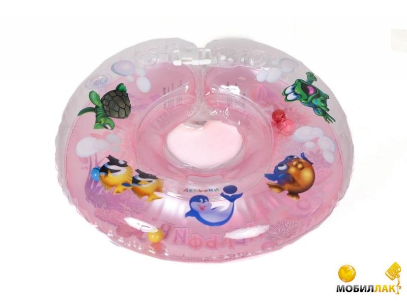 Delfin Круг для купания младенцев на шею с погремушками и ручками EUROSTANDART Дельфин Розовый DES230414-pink MobilLuck.com.ua 119.000