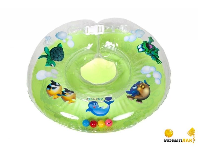 Delfin Круг для купания младенцев на шею с погремушками и ручками EUROSTANDART Дельфин Зеленый DES230414-green MobilLuck.com.ua 109.000