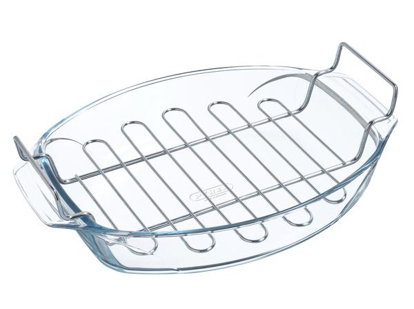 Pyrex Irresistible Овальная 39х27х9 см 4 л с решёткой стекло (412U000) Pyrex