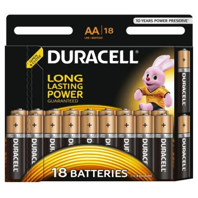Батарейка Duracell Basic AA/LR06 BL (18 штук)
