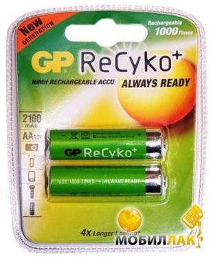 Аккумулятор GP AA ReCyko+ 2100mAh 2шт (210AAHCB-C2/210AAHCBLL-2EC2)