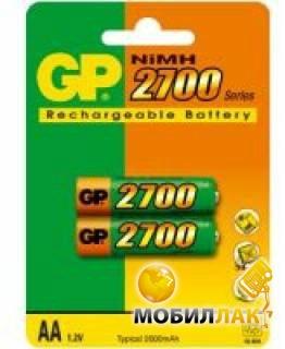 Аккумулятор GP AA R6 2700mAh 2шт (270AAHC-UC2/270AAHC-2UC2)