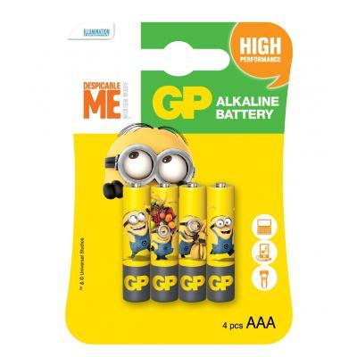 Батарейка GP AAA LR03 Alcaline Minions x 4 (GP24AUYOY-2UE4)