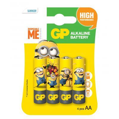 Батарейка GP AA LR6 Alcaline Minions x 4 (GP15AUYOY-2UE4)