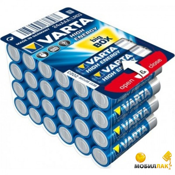 Varta High Energy AAA BOX 24 Alkaline MobilLuck.com.ua 164.000