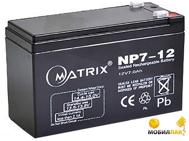 Батарея Matrix 12V 7AH (NP7-12)