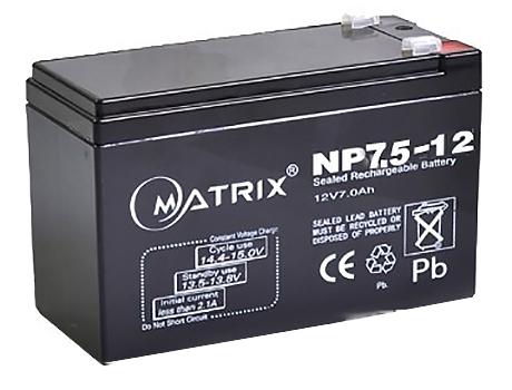 Батарея Matrix 12V 7,5AH (NP7.5-12)