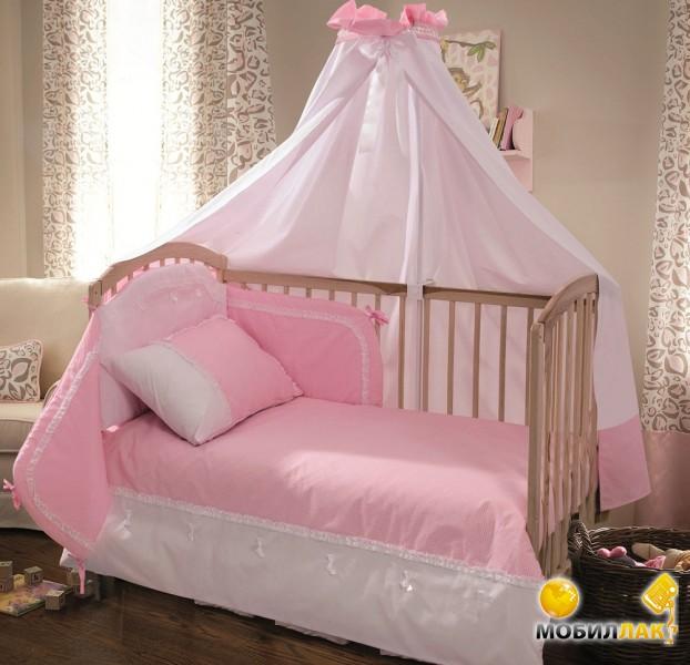 BabyMatex Детский постельный комплект Sweet розовый (7 элемента) (0112С-10) MobilLuck.com.ua 1602.000