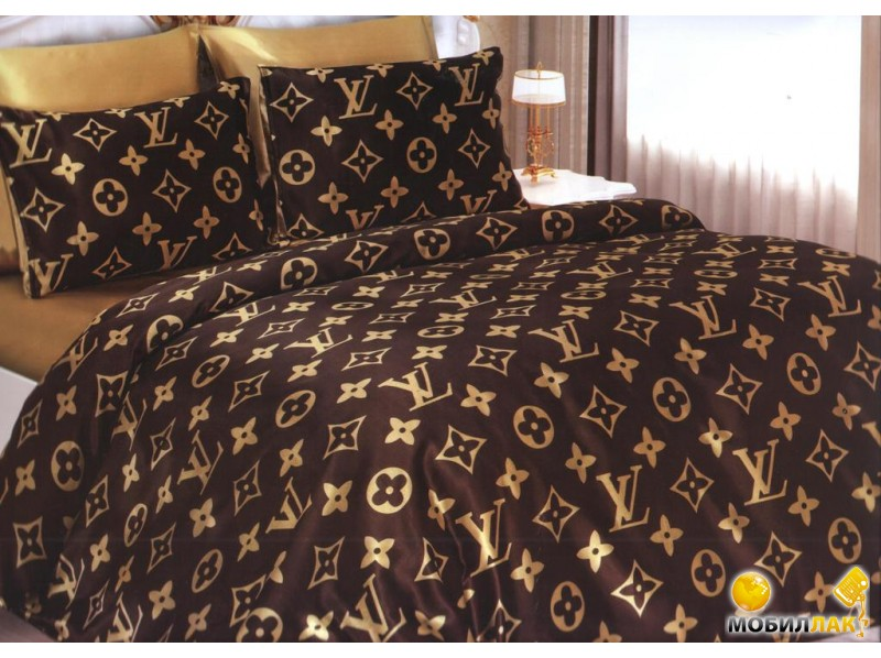 Nuriye Tekstil Louis Vuitton хлопок 200Х220 двуспальное коричневый (3333380000511) MobilLuck.com.ua 1064.000
