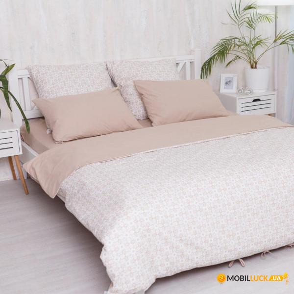 Комплект постельного белья Прованс Поплин Royal beige 200х215 см (4823093407534)