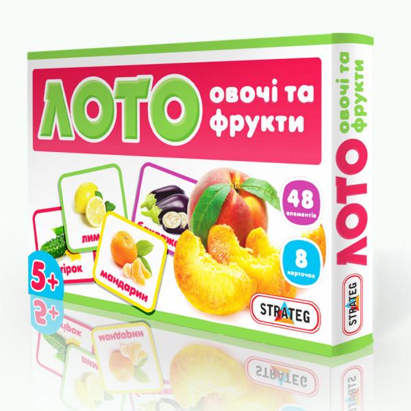 Strateg Лото Овощи и фрукты (161) Strateg