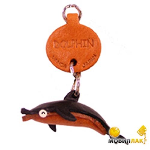 Vanca дельфин, 3D на мобильный, натуральная кожа , 2,5х2,5х1см. см. (46304) Vanca
