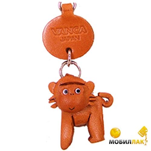 Vanca обезьяна, 3D на мобильный, натуральная кожа , 2,5х2,5х1см. см. (46213) Vanca