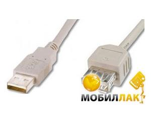 Digitus USB 2.0 (AM/AF) 3.0m, White (AK-300200-030-E) MobilLuck.com.ua 32.000
