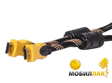PowerPlant Видeo кабель PowerPlant HDMI - HDMI, 1.5m, Gold Plated, 1.3V, Nylon, Double ferrites, Blister ( KD00AS1195 ) MobilLuck.com.ua 87.000