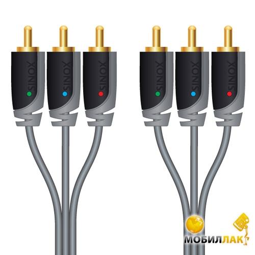 Sinox SX Plus Component Video Cable, 3 RCA, 2.0m (SXV3302) MobilLuck.com.ua 85.000