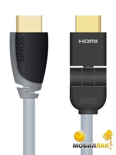 Sinox SX Plus HDMI Cable 360° поворотный, 1.0m (SXV1801) MobilLuck.com.ua 169.000