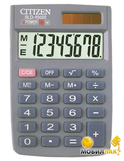 Калькулятор Citizen SLD-100 III