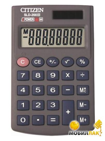Калькулятор Citizen SLD-200 III